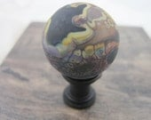 Hand Made Flameworked Glass Knob- Dragon 3
