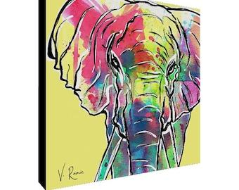 Art Print, Elephant Art Print, Abstract Art, Gallery Canvas, Digital Painting, Pop Art, Watercolor Art, Modern Art