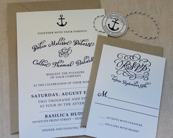 Nautical Invitation with bakers twine
