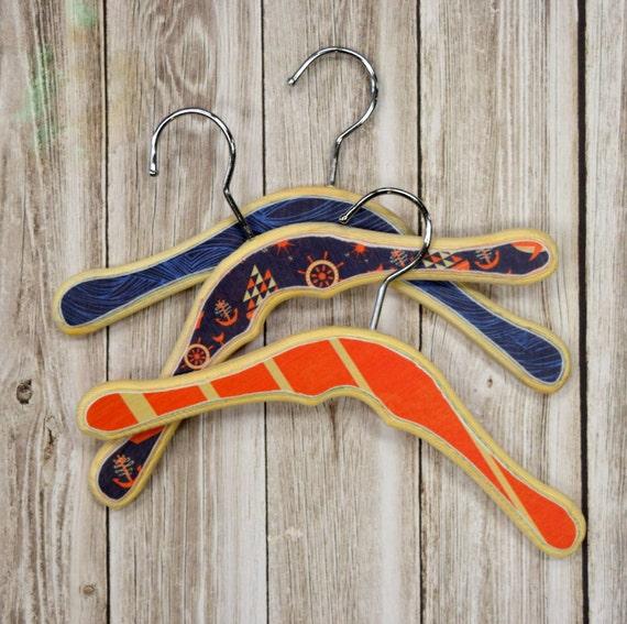 Ahoy Baby Hangers Wooden Kids Clothing Hangers Decorative