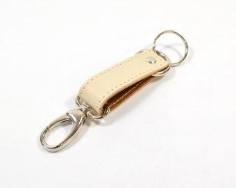 Handmade Veg Tan Leather Keychain Key Fob Keyring.