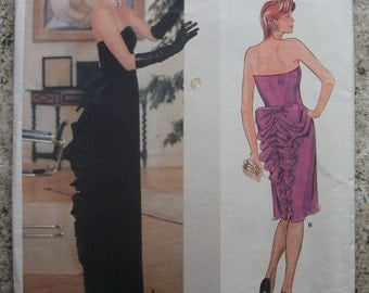 Vintage Vogue Designer Original Bellville Sassoon Dress Pattern 1275