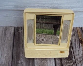 Vintage Sunbeam Electric Lighted Make Up Mirror 2-Sided