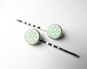 Mint Green Arrow Bobby Hair Pins