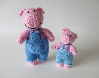 Pop and Pip Pigs toy knitting patterns