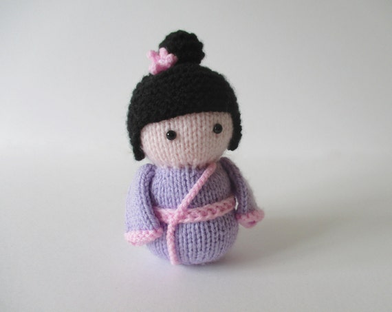 Knitting Patterns For Toys On Etsy : Geisha Girl toy doll knitting pattern by fluffandfuzz on Etsy