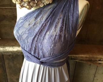 TULIP CUT Lace and Satin Infinity Wrap Dress-Custom combine fabrics- Bridesmaids, Wedding, Maternity Plus Size,