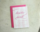 baby shower invitation - tickled pink (baby girl)