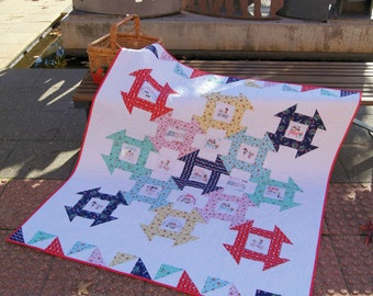 Strawberry Picnic PDF Quilt pattern - Immediate Download