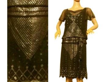 1920s flapper dress. Assuit. Art Deco. Egyptian Revival.