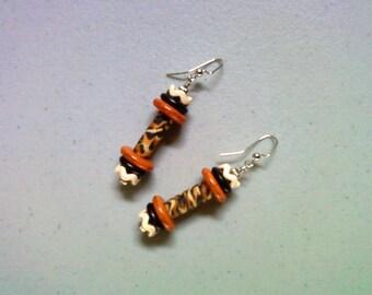 Tiger Stripe Earrings (1405)