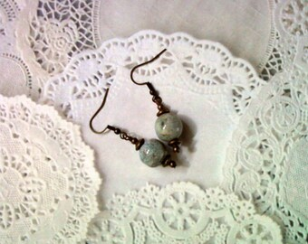 Distressed Light Blue Earrings (1753)