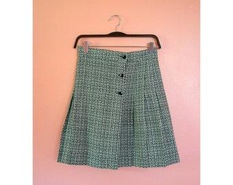 VTG High Waist Checkered Pleated Skirt