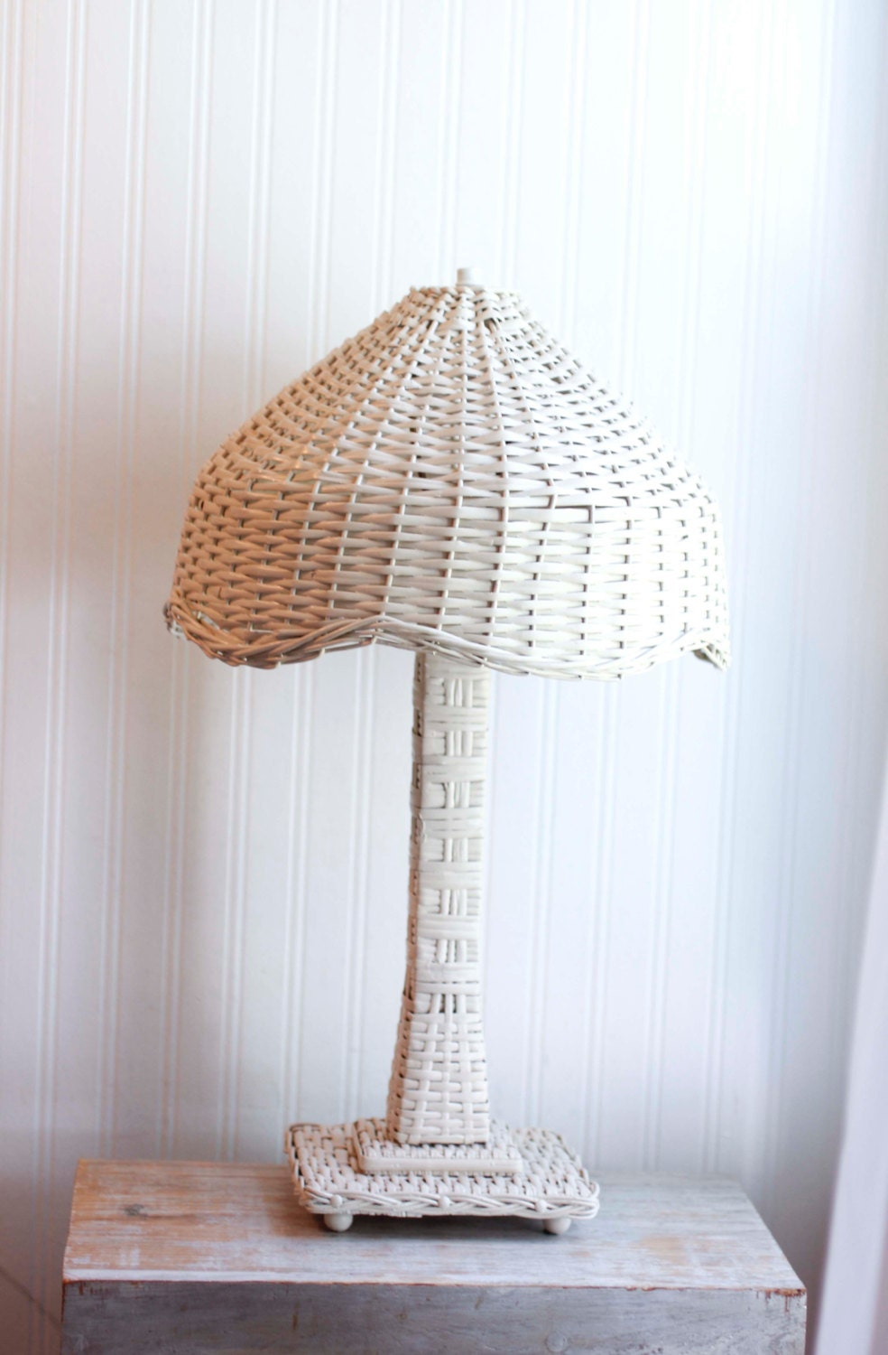 vintage white wicker lamp wicker lamp shade cottage chic
