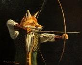 Fox Art- Archer- 8x10 photo print