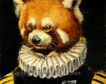 "Red Panda Art- ""Titia van Ulyenburgh"" - Print 5x7"