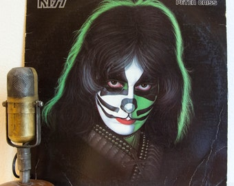 "ON SALE Peter Criss(KISS) Vintage Lp 1970s Classic Rock and Roll Pop Solo album""Peter Criss""(1978 Casablanca w'original inner sleeve - no po"