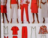 Simplicity 4992 Easy to sew Wardrobe, Misses shirt and knit tank dress or top, Size 10 to 18  UNCUT
