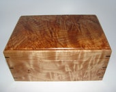 "Spalted Maple Keepsake Box. 8.75"" x 6"" x 4.25""."