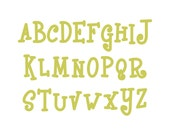 Monogram Font SVG Cut File, Upper and Lower Case, Commercial Use, Instant Download