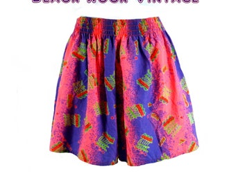 Glow in the Dark Neon Shorts | Vintage 1980s | 24 to 30 inch waist
