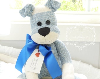 Sock Monkey Doll, The Original Blue Puppy Dog, As Featured in Oklahoma Today