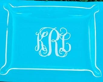 Personalized Monogram Acrylic Tray - Bridesmaid Gift