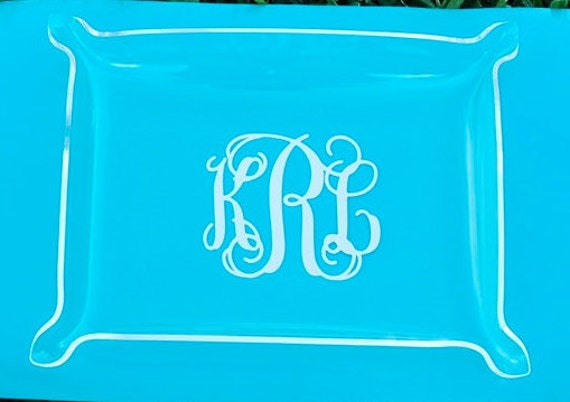 Personalized Monogram Acrylic Tray - Bridesmaid Gift