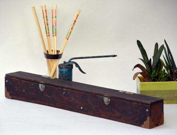 Long Thin Wooden Box: Hardware / Tool / Fishing / Knitting