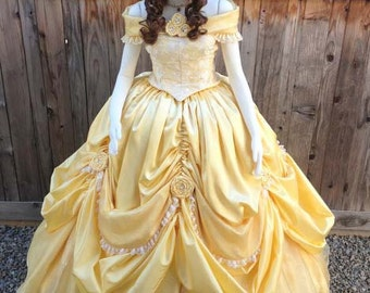 Belle Beauty & the Beast 2013 New Park Look Princess Dress Gown Adult