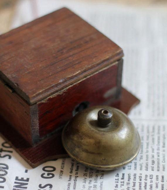 Antique Electric Ring Bell Door Bell 1980s Retro Metal