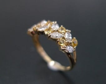 060ct Marquise Diamond Engagement Wedding Rings Women Jewelry