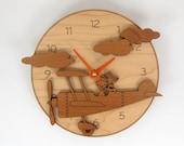Airplane Clock Kids Airplane Nursery Decor