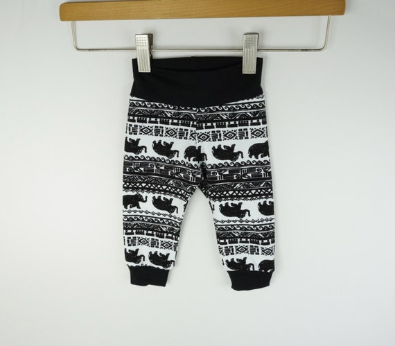 Gender neutral baby clothes modern baby leggings black