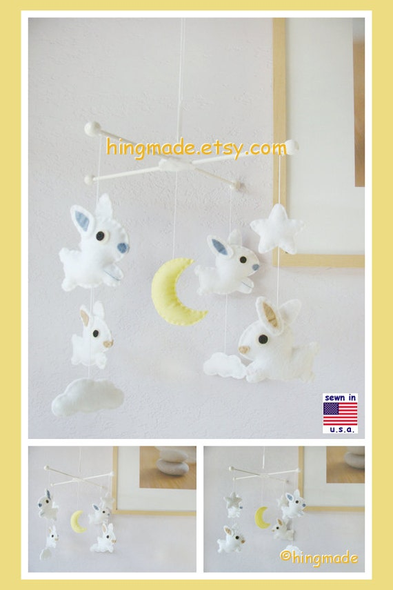 Baby Crib Mobile Baby Mobile Bunny Mobile Unisex By Hingmade