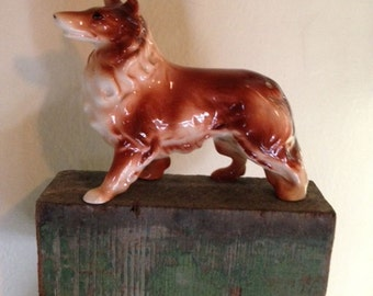 Vintage Collie Dog Figurine / 1950s