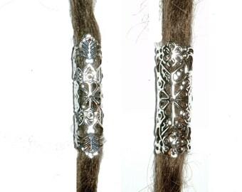 pick style: Silver filigree dread bead dreadlock tube dreadlock tube