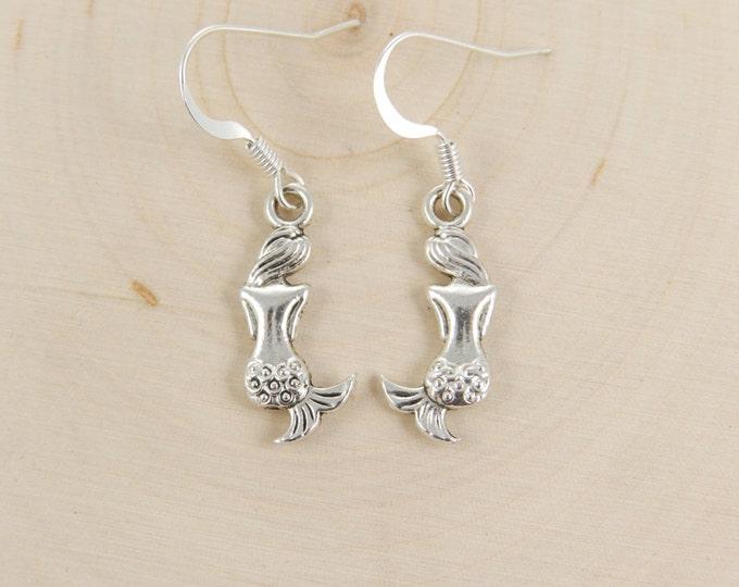 Mermaid Earrings in Silver