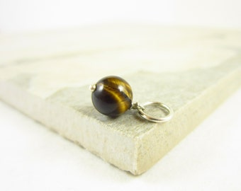 Tiger Eye Pendant - Tiger Eye Jewelry - Natural Gemstone Jewelry - Healing Crystals and Stones - Sterling Silver Charms