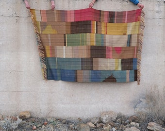 A Nomad's Blanket - Woven in dreams - Dyed from the earth