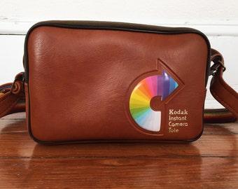 Vintage Rainbow Kodak Instant Camera Tote Case