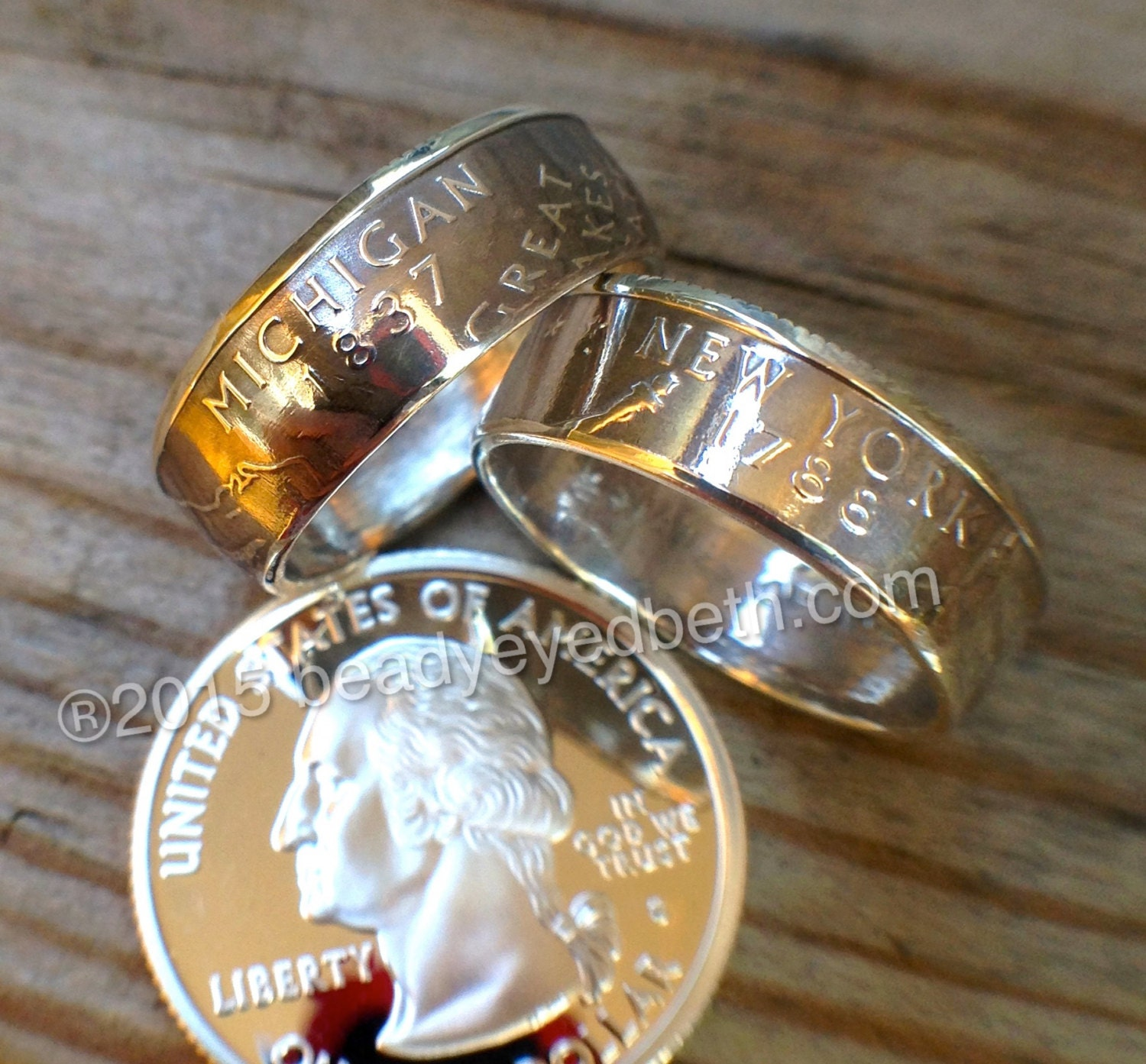 silver state quarter rings free resizing sizes 5 13 90 silver