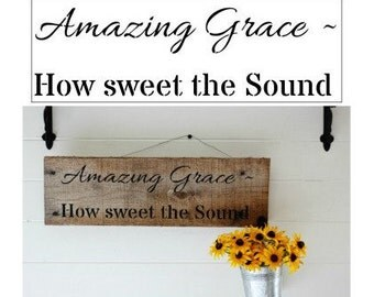 Amazing Grace Sign Christian Hymn Stencil  Home Decor Vintage Sign Stencils