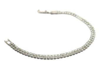 "Swarovski Crystal Mesh Bracelet  7.25"""