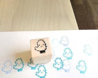 Cactus Stamp - Cute Rubber Stamp