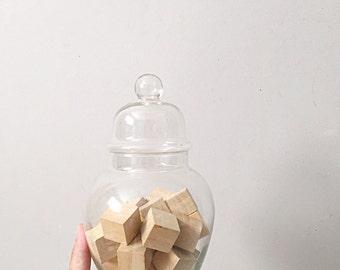 vintage large ginger apothecary jar with lid // flower garden terrarium
