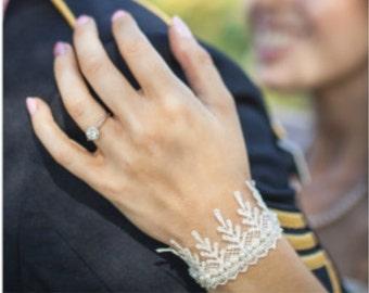 LACE CUFF BRACELET, Bridal Cuff Bracelet, Wedding Cuff Bracelet, Pearl Cuff Bracelet, Dainty Cuff Bracelet, Bridal Cuffs, Wedding Bracelets