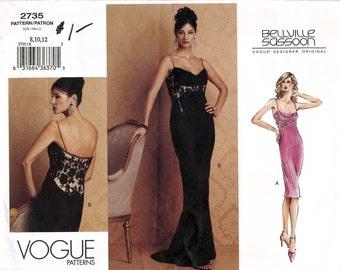 Vogue Designer Original 2735 Misses' Evening Dress by Bellville Sassoon Sewing Pattern - Uncut - Size 8, 10, 12