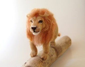Needle Felted Lions. Wool Felt Lion. Needle Felted Lion. Lion Art. Lion King. African Lion. Lion Toy. Gift Ideas For Boys. Felted Animals.
