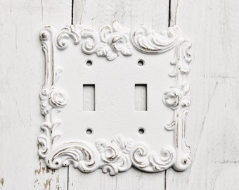 Decorative Metal Light Switch Covers Classy Vintage Style Metal Wall  Decorlight Switch Covercreamy Ivory Decorating Design